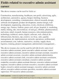 Top 8 Executive Admin Assistant Resume Samples