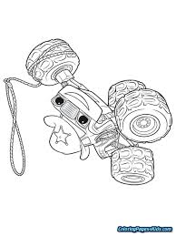 Blaze Monster Machine Coloring Pages And The Machines Printable