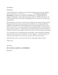 ordinary seaman application letter Letter
