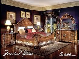 Michael Amini Bedroom Furniture Michael Amini Excelsior Bedroom Furniture Fruitwood Finish By Aico