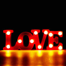 Red Light Up Marquee Letters Us 8 62 40 Off New Romantic Indoor Decorative Wall Lamps 3d Love Marquee Letter Led Night Light Home Christmas Party Wedding Decor Girl Gifts In Led