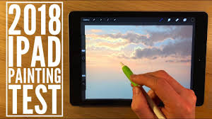 2018 ipad painting test tutorial how to paint a sky