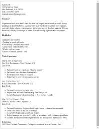 Line Cook Resume Samples Example Job Description Well Print Plus