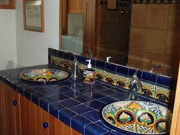 Mexican Bathroom mexican tile bathroom with ethereal warmth cabinet hardware room 7930 by guidejewelry.us