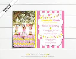 Pink Lemonade Designs Pink Lemonade 5x7 Picture Invitation Karina Kd Designs On