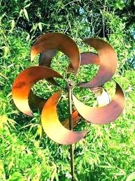 lawn ornaments wind spinners yard art erfly pastel printed spinner metal large garden w outdoor wind spinners metal