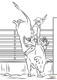 Small Picture Bull Riding Rodeo coloring page Free Printable Coloring Pages