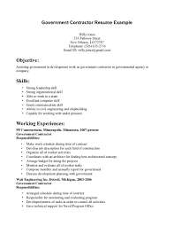 Template Collection Of Solutions Contractor Resumes Templates Zigy