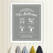 dazzling ideas vintage bathroom wall decor modern home guide to procedures the print rules sign art wash brush flush hang