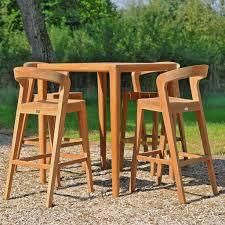 wood patio bar set. Wildpsirit Play Modern Exterior Bar Furniture - Luxury Teak Table, Stool Wood Patio Set