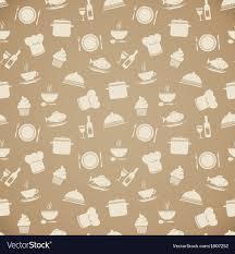 Seamless Restaurant Menu Pattern Background