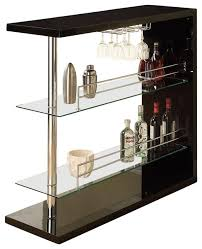 wine rack bar table unit with 2 glass shelves wine holder contemporary wine and bar cabinets by flatfair