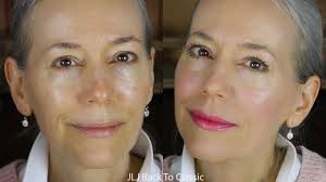 grwm makeup over 50 using powder foundation on dry skin clic green beauty