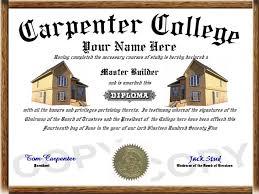 professional diplomas carpenter diploma