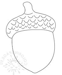 Simple Acorn Coloring Pages Get Coloring Page