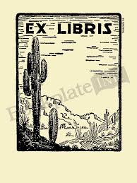 d300 desert scene with cactus bookplate