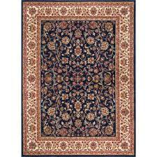 sensation navy 11 ft x 15 ft traditional area rug