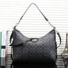 Coach Logo Monogram LZ728 Shoulder Bag In Black Cheap Coach Bags, Cheap Coach  Handbags,