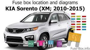 2012 Kia Sorento Brake Light Fuse Location Fuse Box Location And Diagrams Kia Sorento Xm 2010 2015