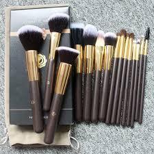 details about 15pcs high end makeup brush gift bo velvet bag makeup brush horse hair brush