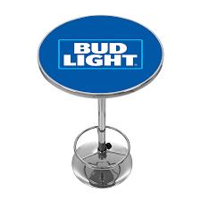 amazoncom bud light chrome pub table sports  outdoors