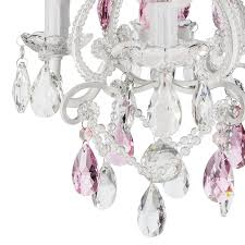 plug in pendant light kit lovely josephine pink crystal beaded white chandelier mini nursery plug in