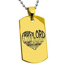 Vergoldet Edelstahl Vertrauen Im Lord Sprüche 3 5 Englisch