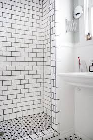 white subway tile and gray grout