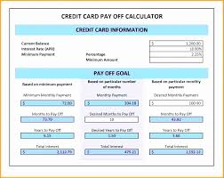 Calculator Credit Card Payment Credit Card Payment Calculator Excel Best Of Excel Template
