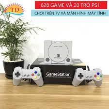 Máy Chơi Game 4 Nút HDMI 628 trò nes+20 trò ps1