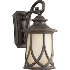 progress lighting resort collection 1 light outdoor 10 5 inch aged copper wall lantern p5989 122 the home depot