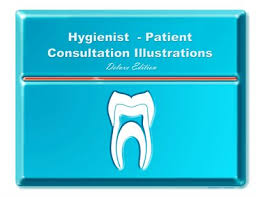 Dental Education Hygienist Patient Consultation Illus