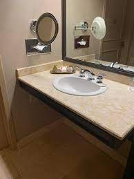 Handicap Accessible Bathroom Vanity Picture Of Treasure Island Ti Hotel Casino A Radisson Hotel Las Vegas Tripadvisor