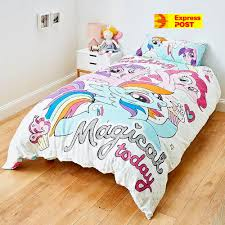 details about my little pony reversible double bed quilt doona cover set new