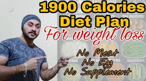 Indian Diet Chart For 1900 Calories 1900 Calories Diet Plan Veg For Weight Loss Indian Hoodlums