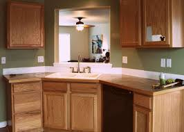 Painted Wood Kitchen Cabinets Kitchen Elegant Brown Wood Kitchen Countertop Design With Shite