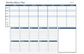 Weekly Meal Plan Sheet Free Excel Weekly Menu Plan Template Dowload