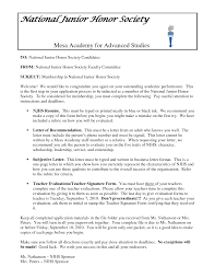 Resume For National Honor Society Resume For Your Job Application