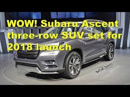 2018 subaru 3 row seating. beautiful 2018 subaru ascent three row suv set for 2018 launch with subaru 3 seating