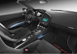 black audi r8 interior. the audi r8 gt spyder interior is finished in black and can be trimmed a