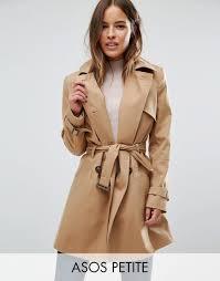 asos petite classic trench coat