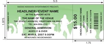 concert ticket maker earth day ticket templates ta ticket printing