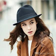 women-039-s-wool-fedora-hats-classic-sun.jpg 2019 Women\u0027S Wool Fedora Hats Classic Sun Panama Style For