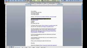 How To Write A Cover Letter Youtube Business Letter Format Youtube Cover Letter Sample For A