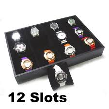 online get cheap mens watch organizer aliexpress com alibaba group 12 grid jewelry watch collection display storage organizer faux leather watch display box man gift