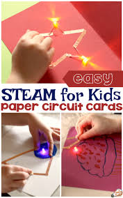 Diy Light Up Greeting Card Paper Circuit Cards Technology For Kids The Science Kiddo