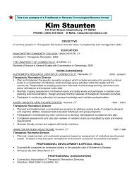 Gallery Of Traditional Or Reverse Chronological Resume Format Free