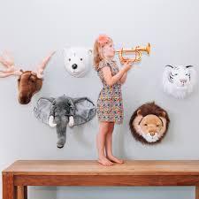 kids elephant plush animal inspirational head wall decor