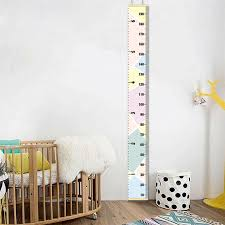 Hanging Growth Chart Us 5 27 39 Off New Hanging Growth Chart Canvas 1pc Baby Height Growth Chart Hanging Rulers Kids Room Wall Wood Frame Home Decor New 30 In Decorative