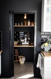 kitchen pantry black myidealhome pantry dark walls and kitchens